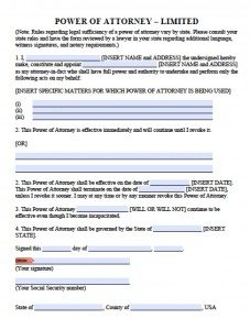 Free Printable Power of Attorney Forms | PDF Templates on bill of sale ny, lease agreement form ny, notice form ny, notary public form ny, tax exempt form ny, general release form ny,