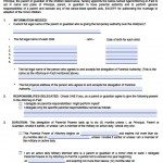 power of attorney template for child