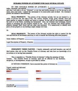 free general power of attorney form in spanish