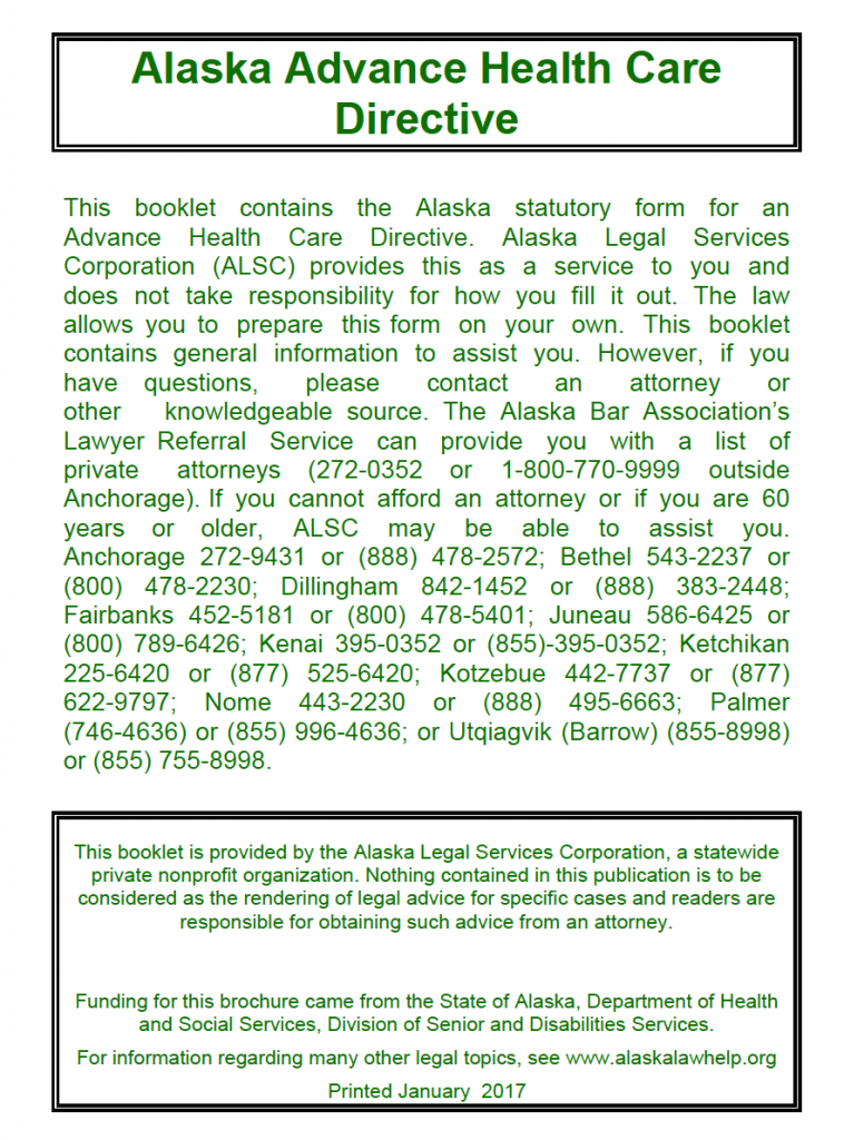 Free Medical Power Of Attorney Alaska Form Adobe Pdf