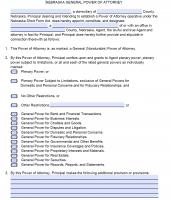 power of attorney form unl  Free Nebraska Power Of Attorney Forms | PDF Templates