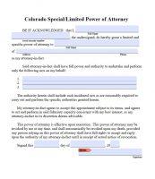 Free Colorado Power Of Attorney Forms | PDF Templates