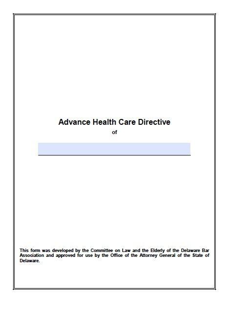free medical power of attorney delaware form adobe pdf