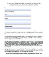 power of attorney form ks  Free Kansas Power Of Attorney Forms | PDF Templates