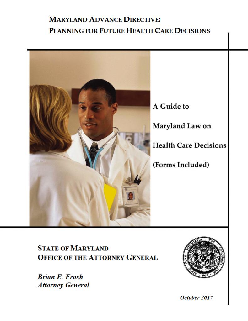 Free Medical Power Of Attorney Maryland Form Adobe Pdf