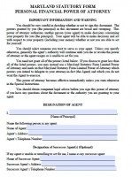 power of attorney form maryland  Free Maryland Power Of Attorney Forms | PDF Templates