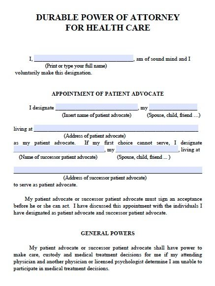 Free Medical Power Of Attorney Michigan Form  Pdf  Word