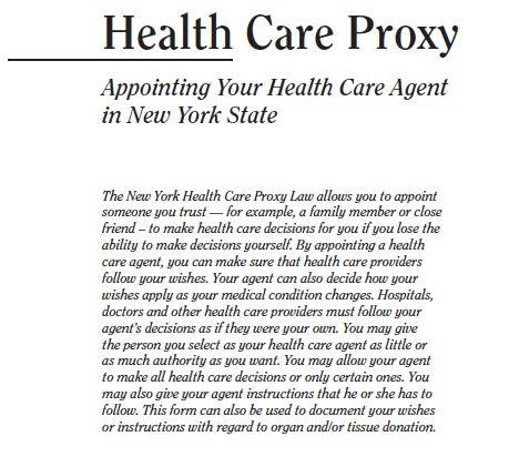 Health Care Proxy