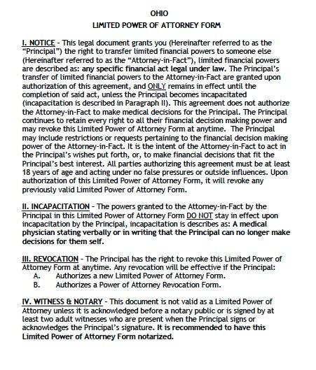 ohio-limited-power-of-attorney Ohio Bmv Limited Power Of Attorney Form on blank medical, printable dmv, blank durable general, free printable financial, license plate application, bureau motor vehicles,