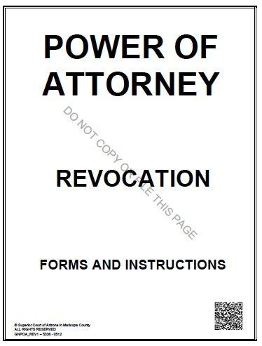 Arizona POA Revocation Form