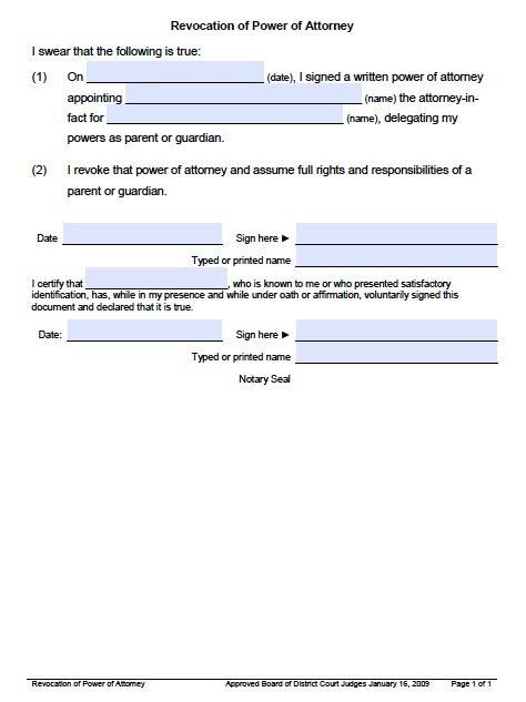 Utah Revocation Form