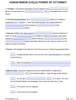 power of attorney form hawaii state  Free Hawaii Power Of Attorney Forms | PDF Templates
