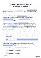 power of attorney form 2019  Free Pennsylvania Power Of Attorney Forms | PDF Templates