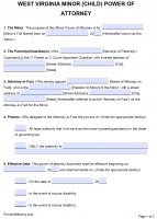 Free West Virginia Power Of Attorney Forms | PDF Templates