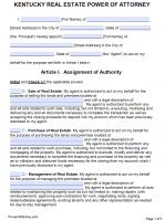 Free Kentucky Power Of Attorney Forms | PDF Templates