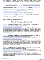 power of attorney form mn  Free Minnesota Power Of Attorney Forms | PDF Templates