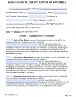 Free Missouri Power Of Attorney Forms | PDF Templates