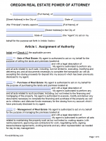 Free Oregon Power Of Attorney Forms | PDF Templates